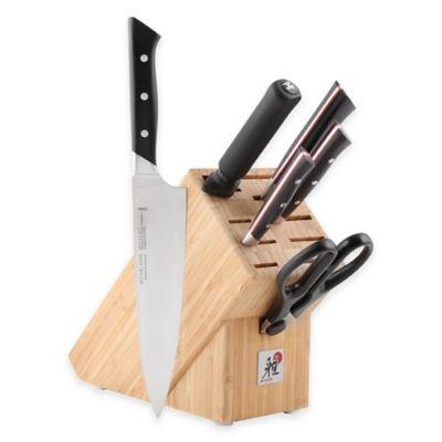 MIYABI Morimoto Red Series 600 S 7-Piece Knife Block Set