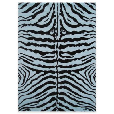Fun Rugs™ Zebra Skin 1-Foot 7-Inch x 2-Foot 5-Inch Accent Rug in Blue/Black