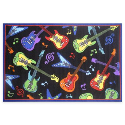 Fun Rugs™ Guitar 1-Foot 7-Inch x 2-Foot 5-Inch Rug