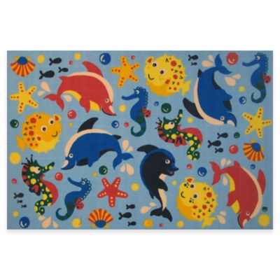 Fun Rugs™ Aquarium 1-Foot 7-Inch x 2-Foot 5-Inch Rug