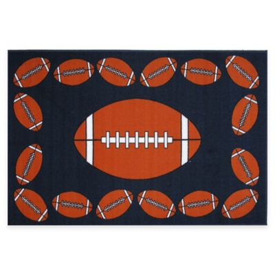 Fun Rugs™ Football Time 1-Foot 7-Inch x 2-Foot 5-Inch Rug