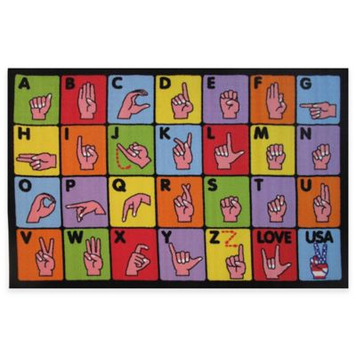 Fun Rugs™ Sign Language 1-Foot 7-Inch x 2-Foot 5-Inch Accent Rug