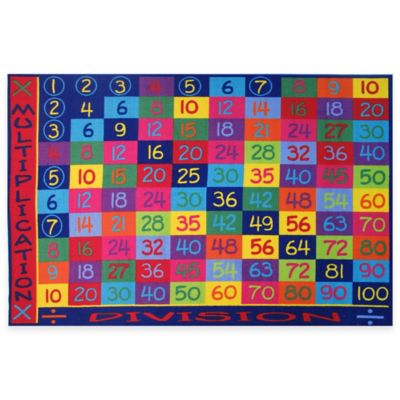 Fun Rugs Fun Time 8-Foot x 11-Foot Multiplication Rug