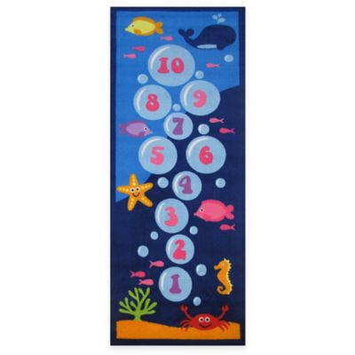 Fun Rugs™ Underwater Hopscotch 1-Foot 7-Inch x 2-Foot 5-Inch Rug