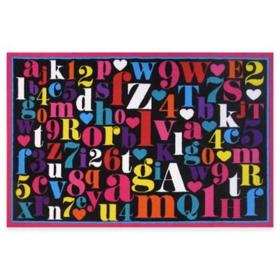 Fun Rugs™ Alphabet 4-Foot 3-Inch x 6-Foot 6-Inch Area Rug