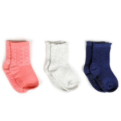 Carter's® Size 2-4T 3-Pack Textured Socks in Pink/Grey/Navy