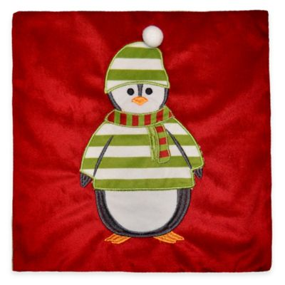 Petey Penguin Mini Throw Pillow in Red