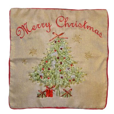 Christmas Starry Tree Oblong Throw Pillow