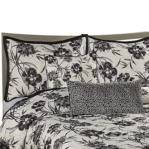 Onyx Floral European Pillow Sham