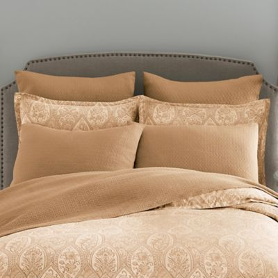 Modern Living Sienna Paisley European Pillow Sham in Soft Gold