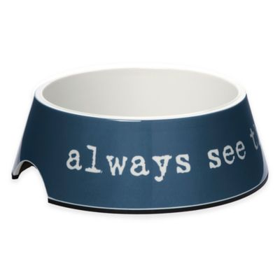 "Dog is Good® ""Always Half Full"" 12 oz. Dog Bowl in Blue"