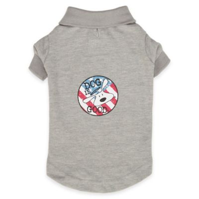 Dog is Good® Double Extra Small Patriotic Polo Shirt in Grey