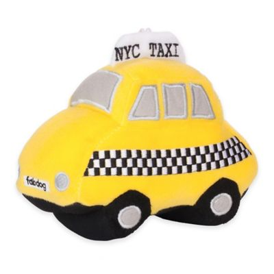 NYC Yellow Taxi Plush Toy with Squeaker