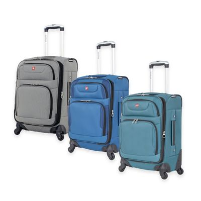 Wenger SwissGear 20-Inch 7297 Carry On Spinner in Teal/Black