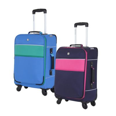 SWISSGEAR® 6186 Collection 20-Inch Carry On 4-Wheel Spinner in Navy/Pink
