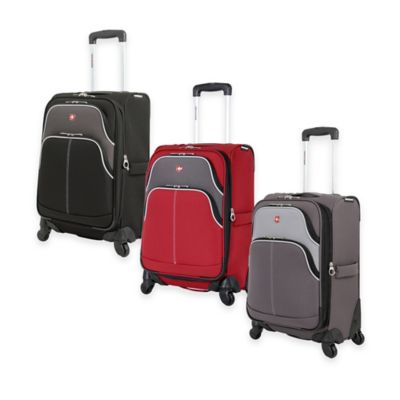 SWISSGEAR® 7377 Collection 20-Inch Pilot Case 4-Wheel Spinner in Red/Grey