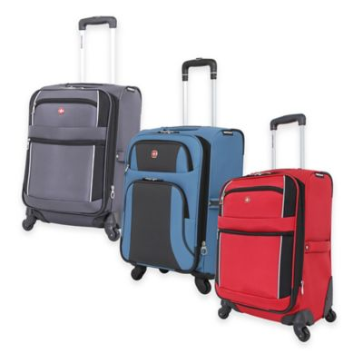 Wenger SwissGear 6110 20-Inch Carry On Spinner Suitcase in Blue/Grey