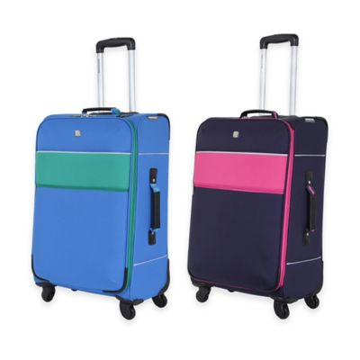 Navy Pink Spinner Suitcase