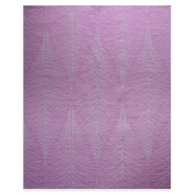 Scott Living™ Nantucket 8-Foot x 10-Foot Indoor/Outdoor Fern Fossil Rug in Purple