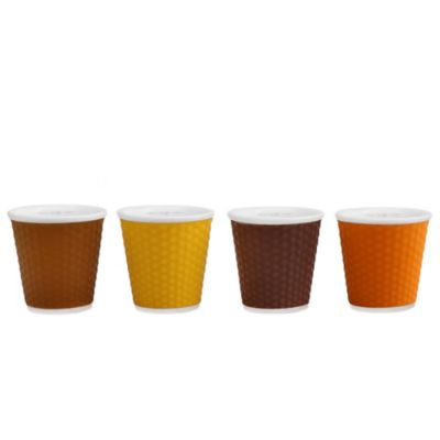 Les Artistes Paris Espresso Cups in Assorted Brown (Set of 4)