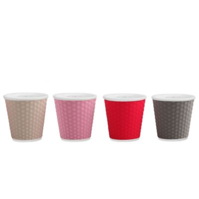 Les Artistes Paris 4-Pack Espresso Cups in Grey/Multi