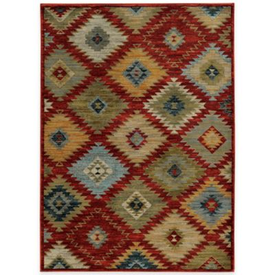 Oriental Weavers Sedona Diamonds 6-Foot 7-Inch x 9-Foot 6-Inch Area Rug in Red