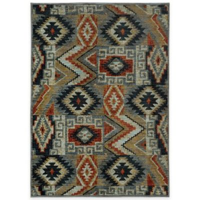 Oriental Weavers Sedona Southwest Geometric 6-Foot 7-Inch x 9-Foot 6-Inch Area Rug in Multicolor