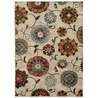 Oriental Weavers Sedona Floral 1-Foot 10-Inch x 3-Foot Accent Rug in Ivory