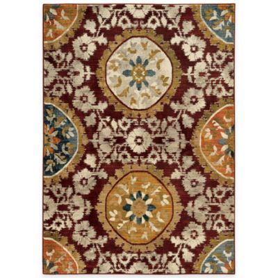 Oriental Weavers Sedona Medallion 2-Foot 3-Inch x 7-Foot 6-Inch Runner in Red