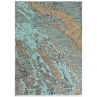 Oriental Weavers Sedona Brushstrokes 3-Foot 10-Inch x 5-Foot 5-Inch Area Rug in Blue
