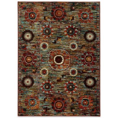 Oriental Weavers Sedona Floral Medallion 5-Foot 3-Inch x 7-Foot 6-Inch Area Rug in Multicolor