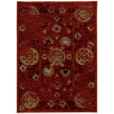 Oriental Weavers Sedona Distressed 6-Foot 7-Inch x 9-Foot 6-Inch Area Rug in Red