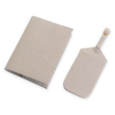 Lillian Rose™ Luggage Tag and Passport Cover in Tan