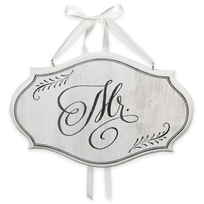"""Mrs."""" Oval Chair Sign in White"""