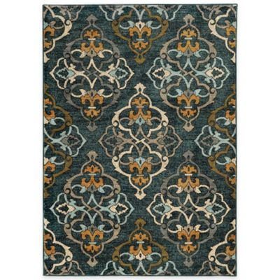 Oriental Weavers Sedona Damask 6-Foot 7-Inch x 9-Foot 6-Inch Area Rug in Blue
