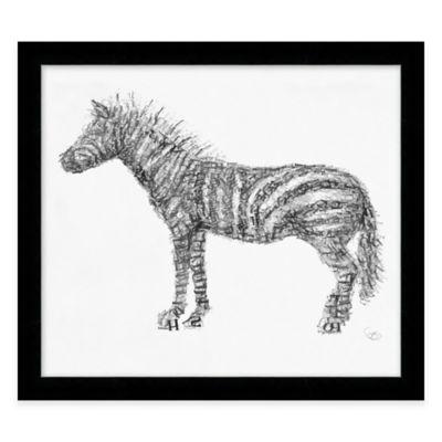 "Alphabet Animal ""Posh"" Zebra Framed Wall Art"