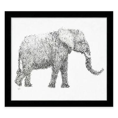 "Alphabet Animal ""Sexy"" Elephant Framed Wall Art"