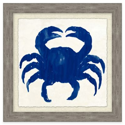 Beach Chic Blue Crab II Framed Wall Art