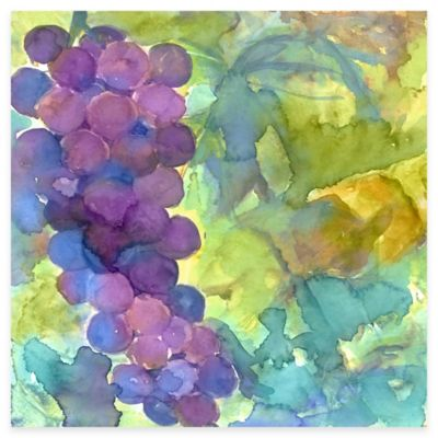 Wine and Cuisine Grapes 2 Canvas Wall Art