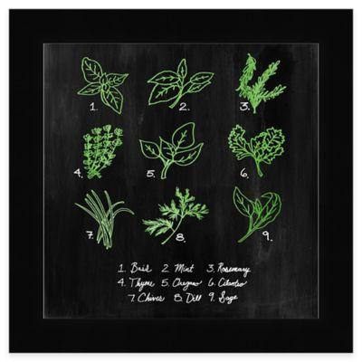 Chalkboard Herbs 1 Framed Wall Art