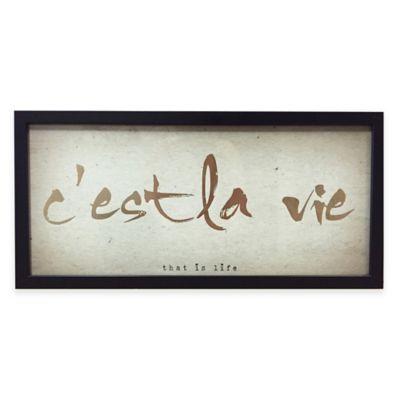 "Life Words Typography ""C'est La Vie"" Framed Wall Art"
