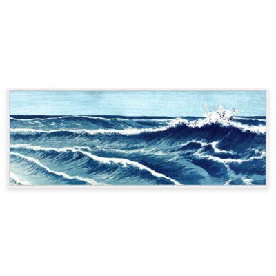 Beach Chic Big Wave II Framed Canvas Wall Art