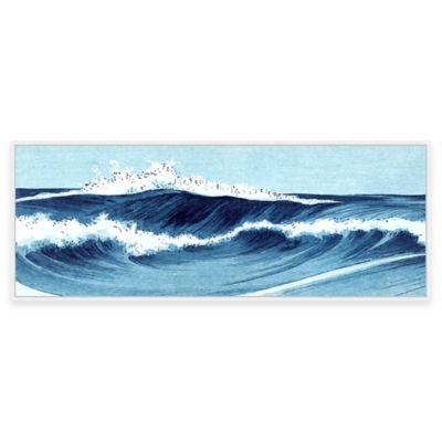Beach Chic Big Wave I Framed Canvas Wall Art