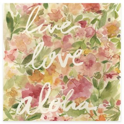 """Live Love Aloha"" Canvas Wall Art"