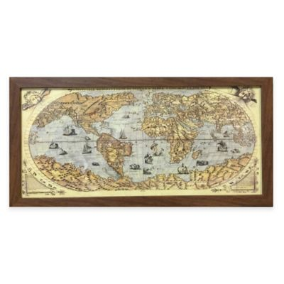 Map of the Globe Framed Wall Art