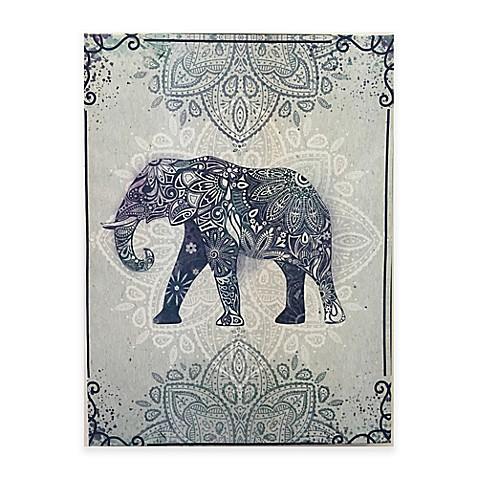 Graham Amp Brown Boho Elephant Canvas Wall Art Bed Bath