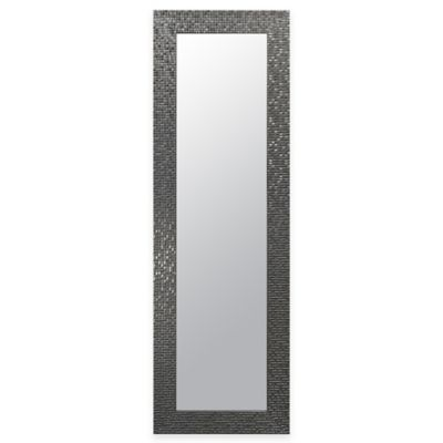 Door Solutions™ Over-the-Door 12-Inch x 48-Inch Mosaic Tile Mirror in Silver