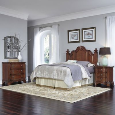 Home Styles Santiago 3-Piece King/California King Headboard, Nightstand and Drawer Chest Set
