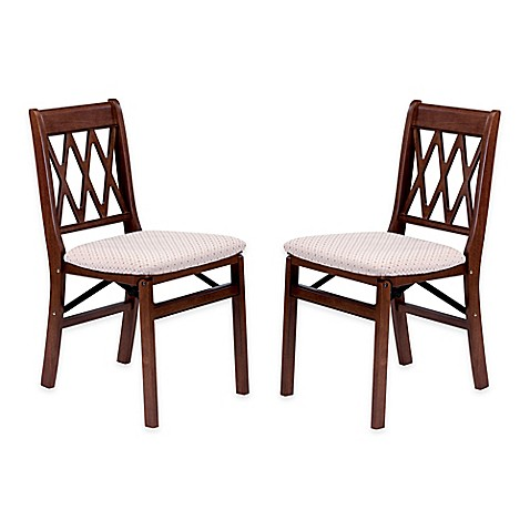 stakmore lattice back wood folding chairs set of 2 www