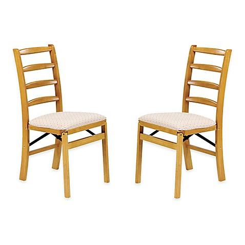 stakmore shaker ladderback wood folding chairs set of 2